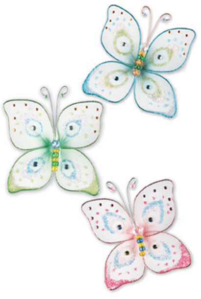 Butterfly Kisses Wall Embellishment Charms - Kids Wall Decor Store
