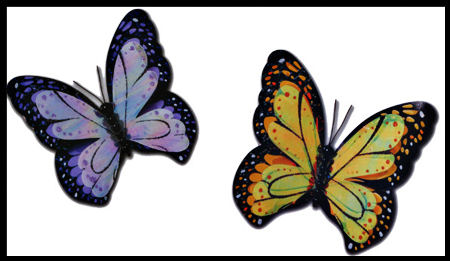 Butterflies Wall Charms - Wall Sticker Outlet