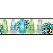 Green Cheer Wallpaper Border SALE