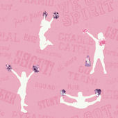 Pink Cheer Sidewall Wallpaper