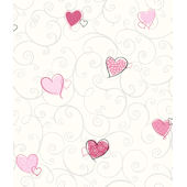 Colorful Hearts Pink Wallpaper SALE