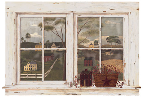 Country Scenic Window Mural