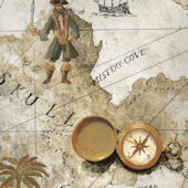 Cream Pirate Treasure Map Wallpaper