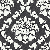 Black Damask Wiskins Wallpaper