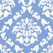 Blue Damask Wiskins  Wallpaper