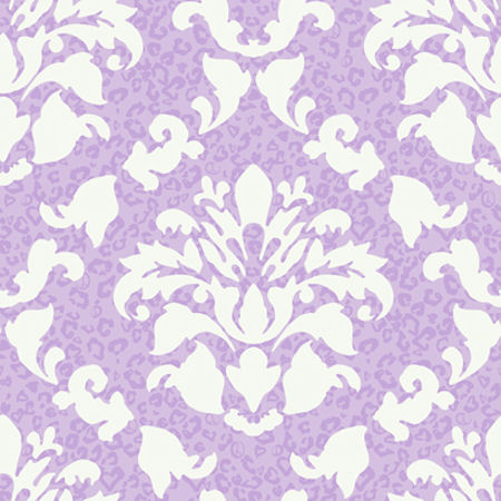 Damask printed wallpaper from I Love Wallpaper