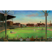 Under the Lights Baseball Wall Mural