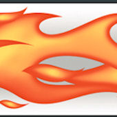 Flames Orange Wallpaper Border
