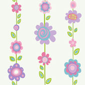 Pastel Flower Stripe Wallpaper
