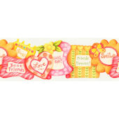Pink and Orange Friends Frame  Wall Paper Border
