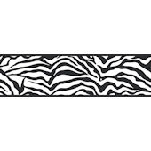 Girly Glam Zebra Black Wall Paper Border