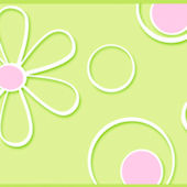 Graphic Daisy Dot Green Wallpaper Border