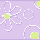 Graphic Daisy Dot Purple Wallpaper Border