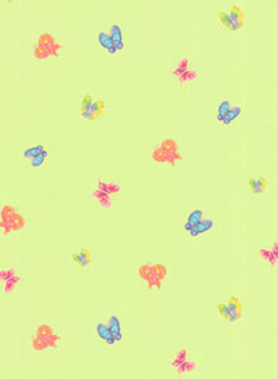 Green Butterfly Toss  Wall Paper  - Kids Wall Decor Store