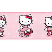Hello Kitty Light Pink Wallpaper Border Part 91