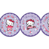 Hello Kitty Purple Ballet Wallpaper Border