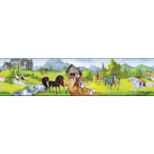 Horseland Scenic Wallpaper Border