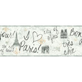 Paris Wallpaper Border