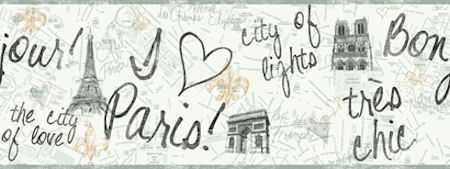 Paris Wallpaper Border - Wall Sticker Outlet