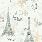 Paris Sidewall Wallpaper