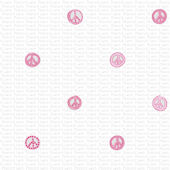 Peace Sign Glitter Pink Wall Paper