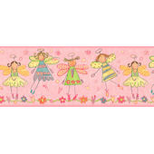 Pink Fairy  Wall Paper Border SALE
