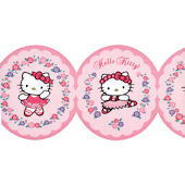 Hello Kitty Pink Ballet Wallpaper Border