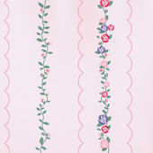 Hello Kitty Pink Scallop Trail Wallpaper