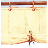 Pirate Ship Cloth Sail Wall Border SALE