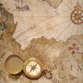 Brown Pirate Treasure Map Wallpaper