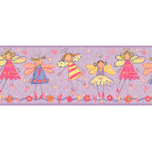 Purple Fairy  Wall Paper Border