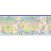 Purple Fairy Castle  Wall Paper Border