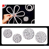 Razzle Dazzle Black and White Wall Charms