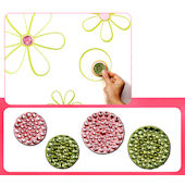 Razzle Dazzle Lime Green and Pink  Wall Charms