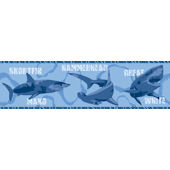 Shark Blue Wallpaper Border