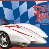 Speed Racer Blue Wallpaper Border