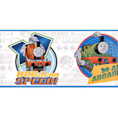 White Thomas and Friends Wallpaper Border