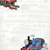 White Thomas and Friends Wallpaper