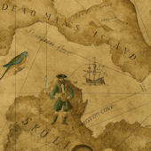 Vintage Pirate Treasure Map Wallpaper