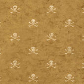 Vintage Skull and Cross Bones Wallpaper