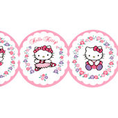 Hello Kitty White Ballet Wallpaper Border