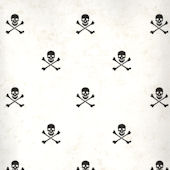 White Skull and Cross Bones Wallpaper