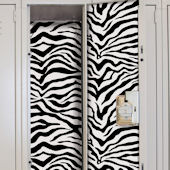 Black and White Zebra Locker Wall Decals
