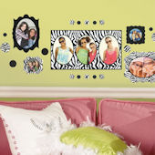 Zebra Photo Frames Wall Decals