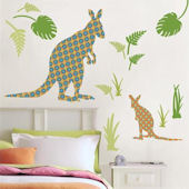 Wall Pops Zoo Wallogy Joey The Kangaroo Wall Decal